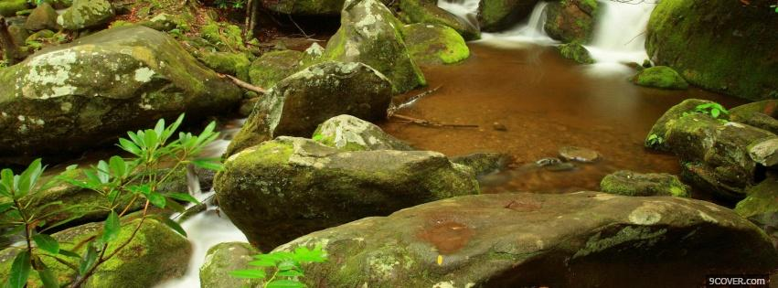 Photo rocks and water nature Facebook Cover for Free