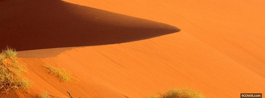 Photo vaste desert nature Facebook Cover for Free