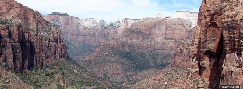 Photo zion national park nature Facebook Cover for Free