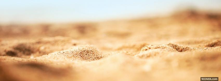 Photo sand landscape nature Facebook Cover for Free