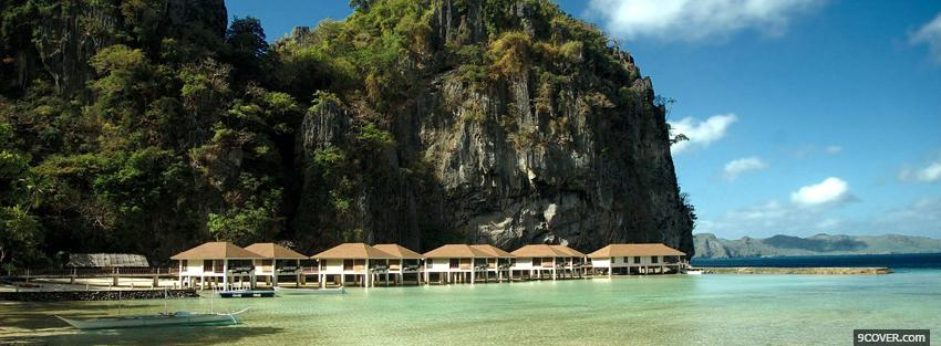 Photo el nido beach nature Facebook Cover for Free