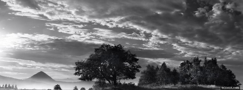 Photo nature black and white Facebook Cover for Free
