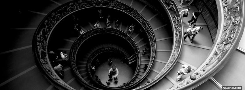 Photo stairs vatican Facebook Cover for Free