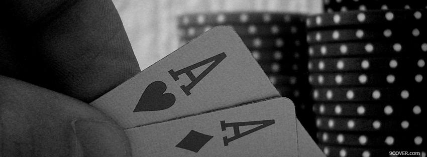 Photo playing with cards Facebook Cover for Free