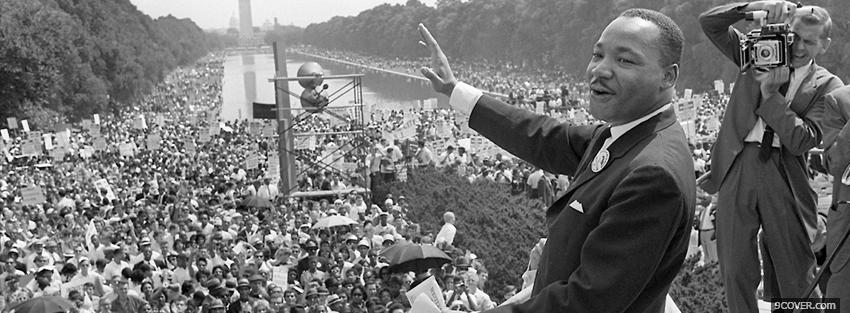 Photo dr martin luther king jr Facebook Cover for Free