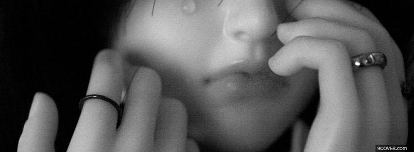 Photo girl crying Facebook Cover for Free