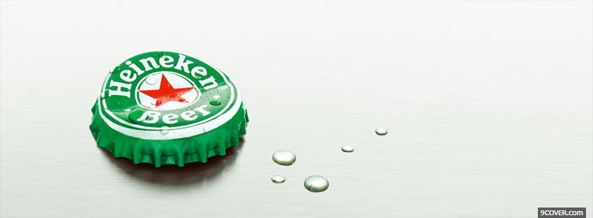 Photo heineken beer cap Facebook Cover for Free