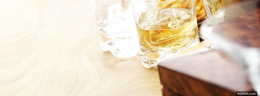 Photo rum drinks alcohol Facebook Cover for Free
