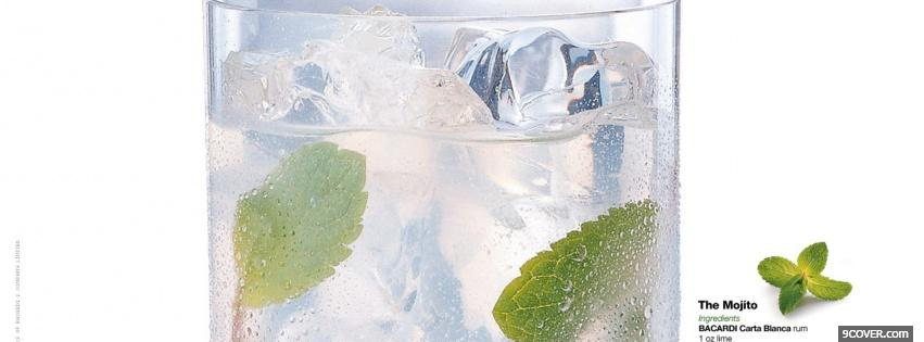 Photo the mojito alcohol Facebook Cover for Free