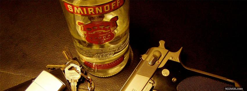 Photo smirnoff and gun Facebook Cover for Free