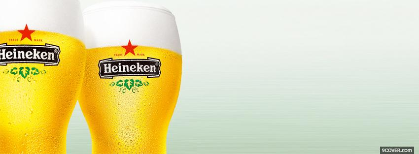 Photo 2 heinekens alcohol Facebook Cover for Free