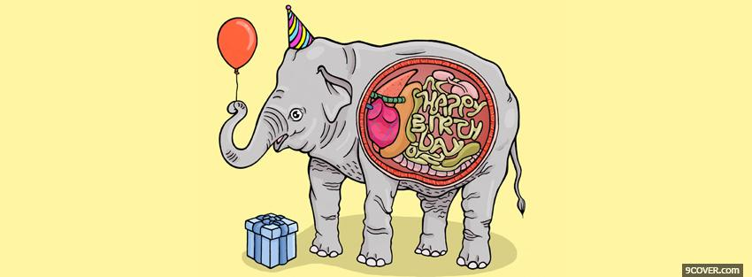 Photo elephant birthday stomach Facebook Cover for Free
