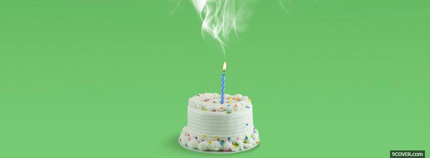 Photo cake and candle smoke Facebook Cover for Free