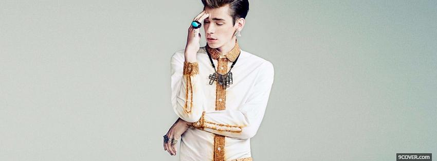 Photo men jewelry fashion Facebook Cover for Free