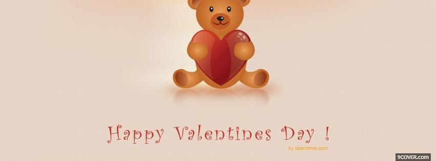 Photo teddy bear for vday Facebook Cover for Free