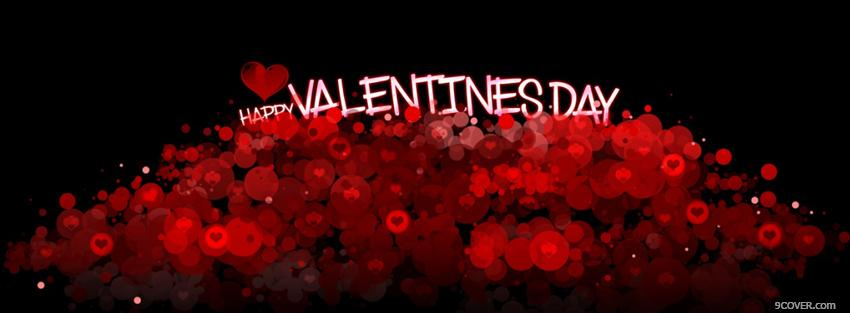 Photo valentines day red sparkles Facebook Cover for Free