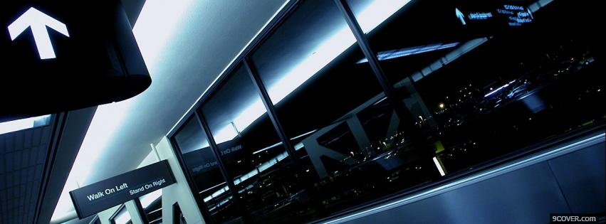 Photo airport terminal airplane Facebook Cover for Free