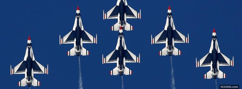 Photo dayton air show airplane Facebook Cover for Free