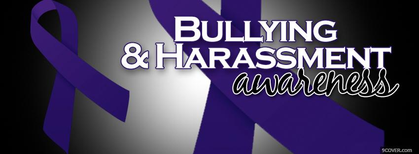 Photo bullying and harassment awareness Facebook Cover for Free
