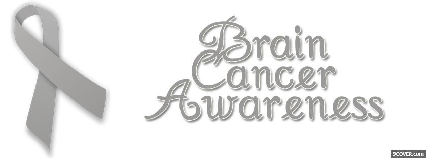 Photo brain cancer awareness Facebook Cover for Free