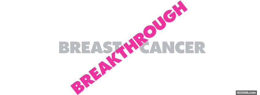 Photo breast cancer awareness Facebook Cover for Free