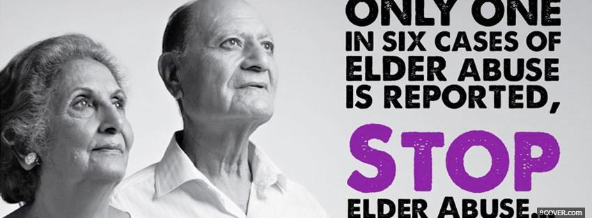 Photo elder abuse awareness Facebook Cover for Free