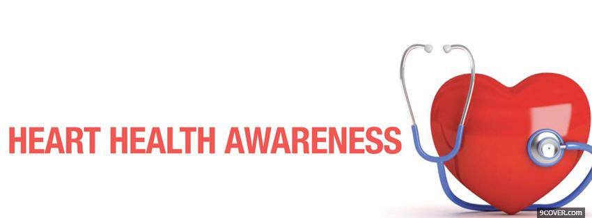 Photo heart health awareness Facebook Cover for Free