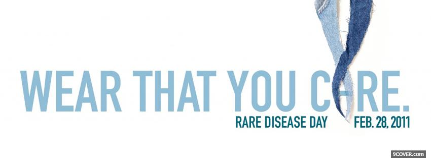 Photo rare disease day Facebook Cover for Free
