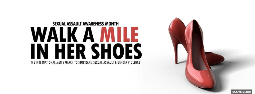 Photo sexual assault awareness Facebook Cover for Free