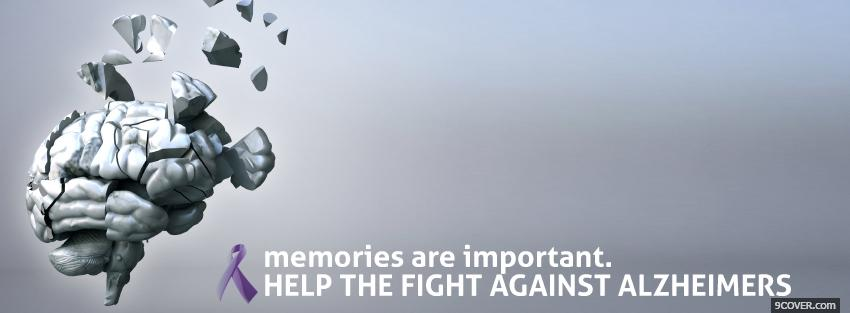 Photo fight against alzheimers Facebook Cover for Free