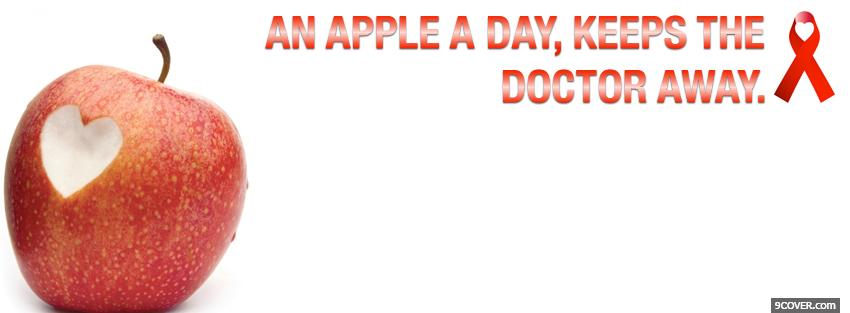Photo keep the doctor away Facebook Cover for Free