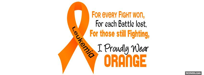 Photo orange leukemia awareness Facebook Cover for Free