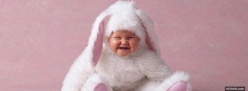Photo cute easter baby Facebook Cover for Free