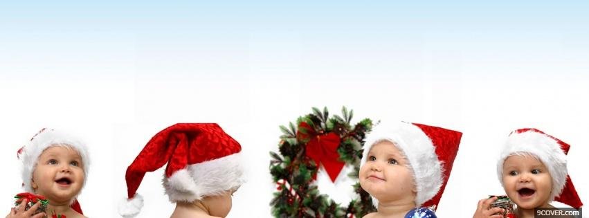 Photo christmas babies Facebook Cover for Free