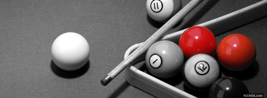 Photo billiards black and red Facebook Cover for Free