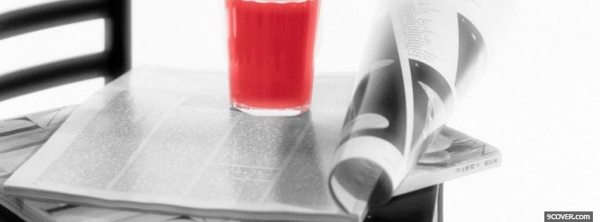 Photo black and red drink Facebook Cover for Free