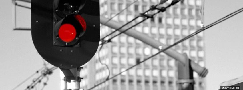 Photo red light Facebook Cover for Free