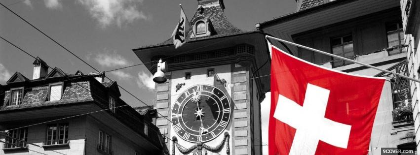 Photo swiss flag Facebook Cover for Free