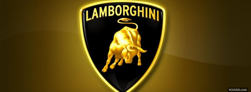 Photo lamborghini brand Facebook Cover for Free
