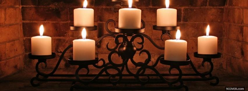 Photo white elegant candles Facebook Cover for Free