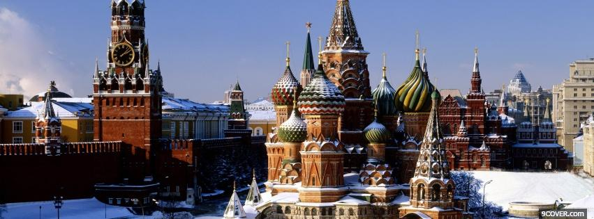 Photo saint basils cathedral castle Facebook Cover for Free