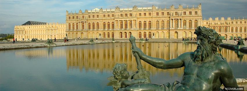 Photo versailles palace castle Facebook Cover for Free