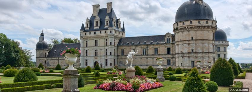 Photo beautiful valencay castle Facebook Cover for Free