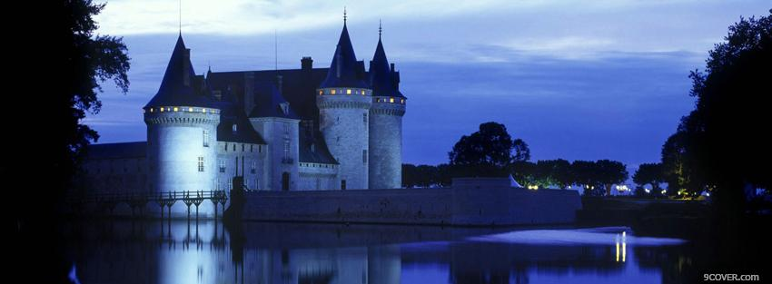 Photo sully sur loire castle Facebook Cover for Free