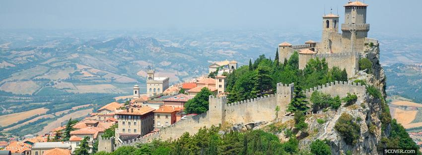 Photo castle in san marino Facebook Cover for Free