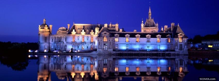 Photo chantilly france castle Facebook Cover for Free