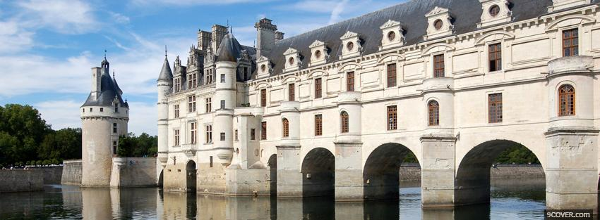Photo french chenonceau castle Facebook Cover for Free
