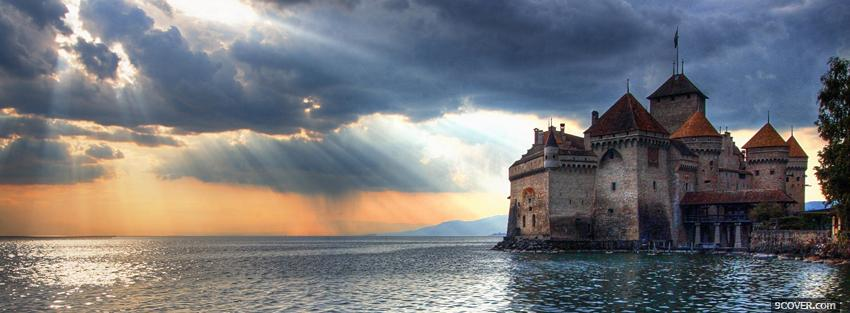 Photo switzerland chillon castle Facebook Cover for Free