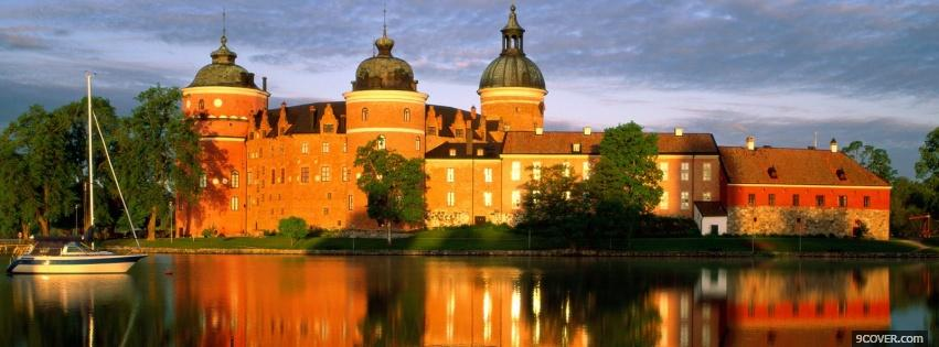 Photo castle in sweden Facebook Cover for Free