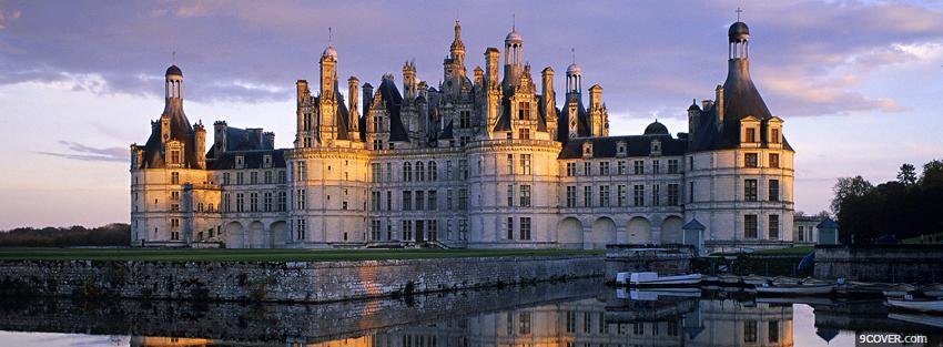 Photo famous chambord castle Facebook Cover for Free